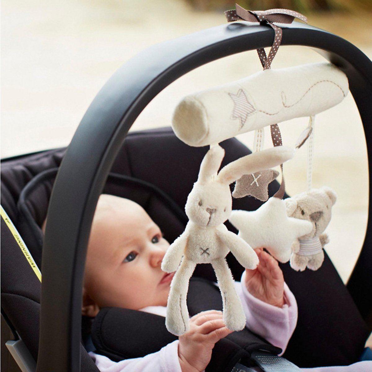 Animal Handbells Musical Developmental Toy Bed Bells Kids Baby Soft Toys WTUS
