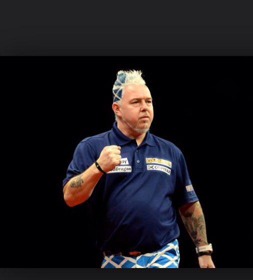Peter Wright Scottish Pro Darts Player