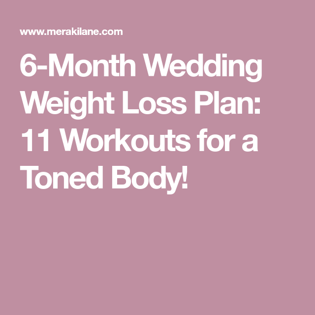 Workout plan to lose weight and tone body