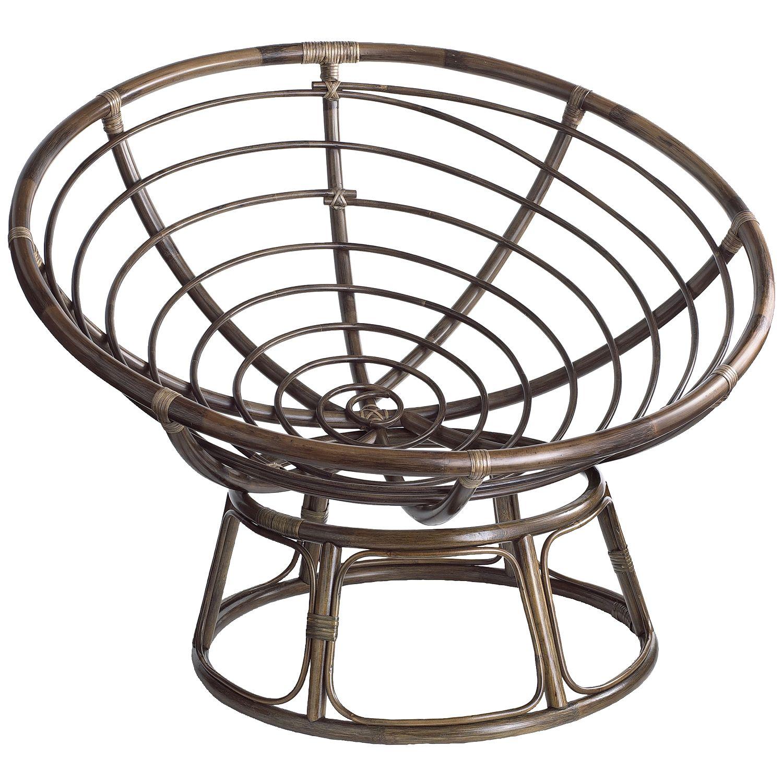 Papasan Chair Frame   Brown   Lacquer