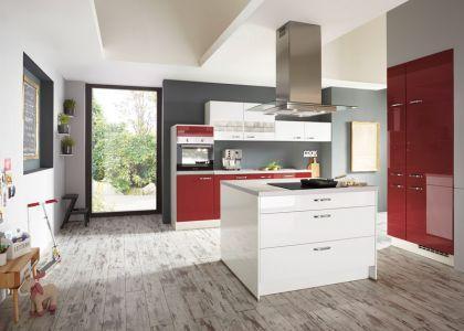 Küche mit Kücheninsel rot weiß - Möbel Mit wwwmoebelmitde - küche rot hochglanz
