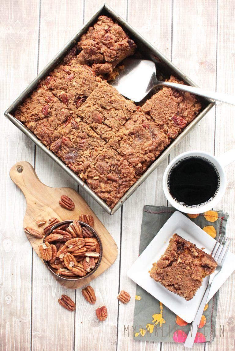 Vegan Coffee Cake (use whole wheat flour & different sugar