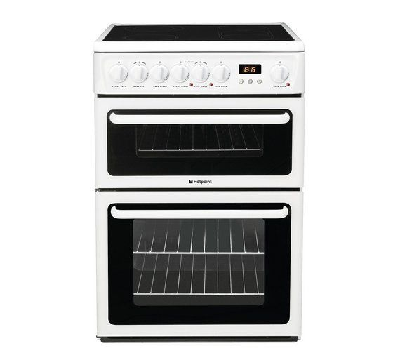 Buy Hotpoint HAE60P Double Electric Cooker - White at Argos.co.uk ...