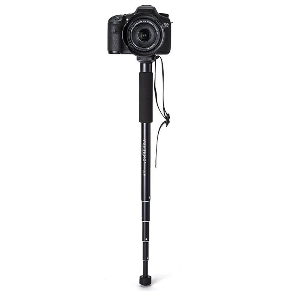 Lightweight Aluminum Portable extendable 5 Sections monopod Stand for Camera Ball Head