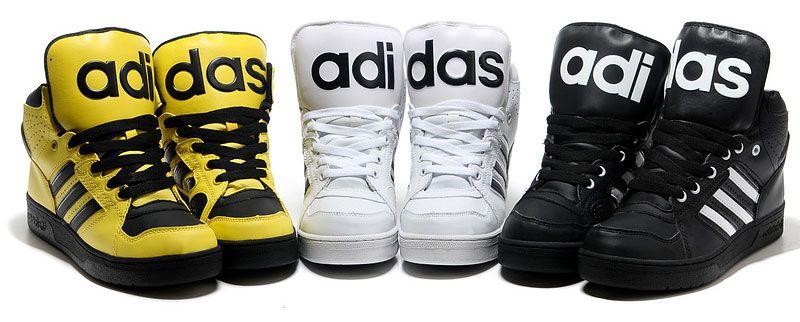 adidas high tops big tongue shoes