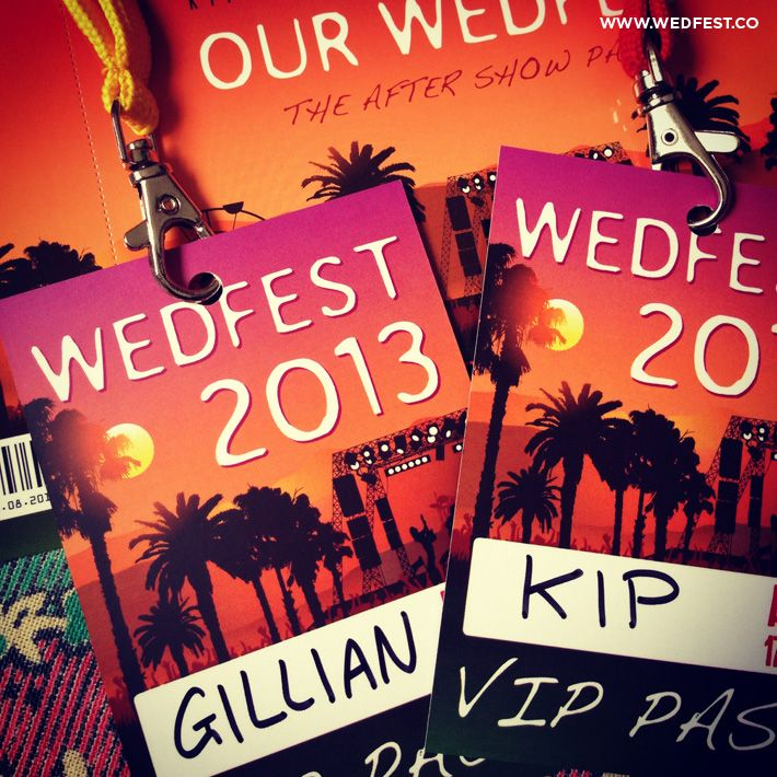 coachella themed wedding invites wedding vip lanyards Laya party