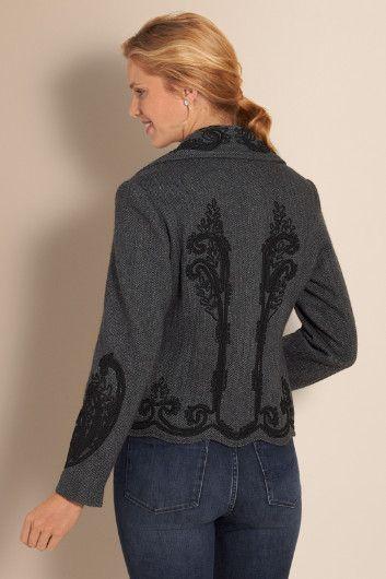 Eaton Manor Jacket - Herringbone Tweed Jacket, Womens Tweed Jacket, Womens Herringbone Jacket | Soft Surroundings