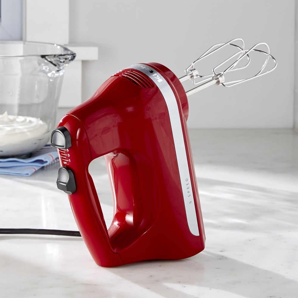 Kitchenaid 5 Speed Hand Mixer Kitchenaid Empire Red 5 Speed Hand Mixer Crate And Barrel