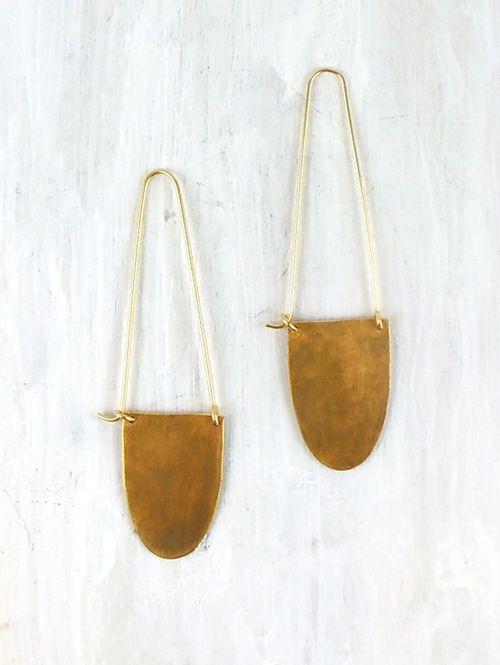 minimalist moon silver modern gold accessory ethnic Minimalist bar half circle gold tribal geometric silver boho