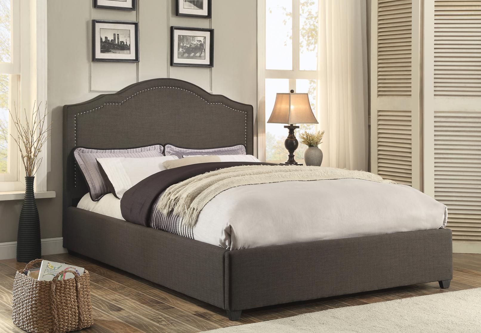 Zaira Bed Upholstered platform bed, Furniture, Bed sizes