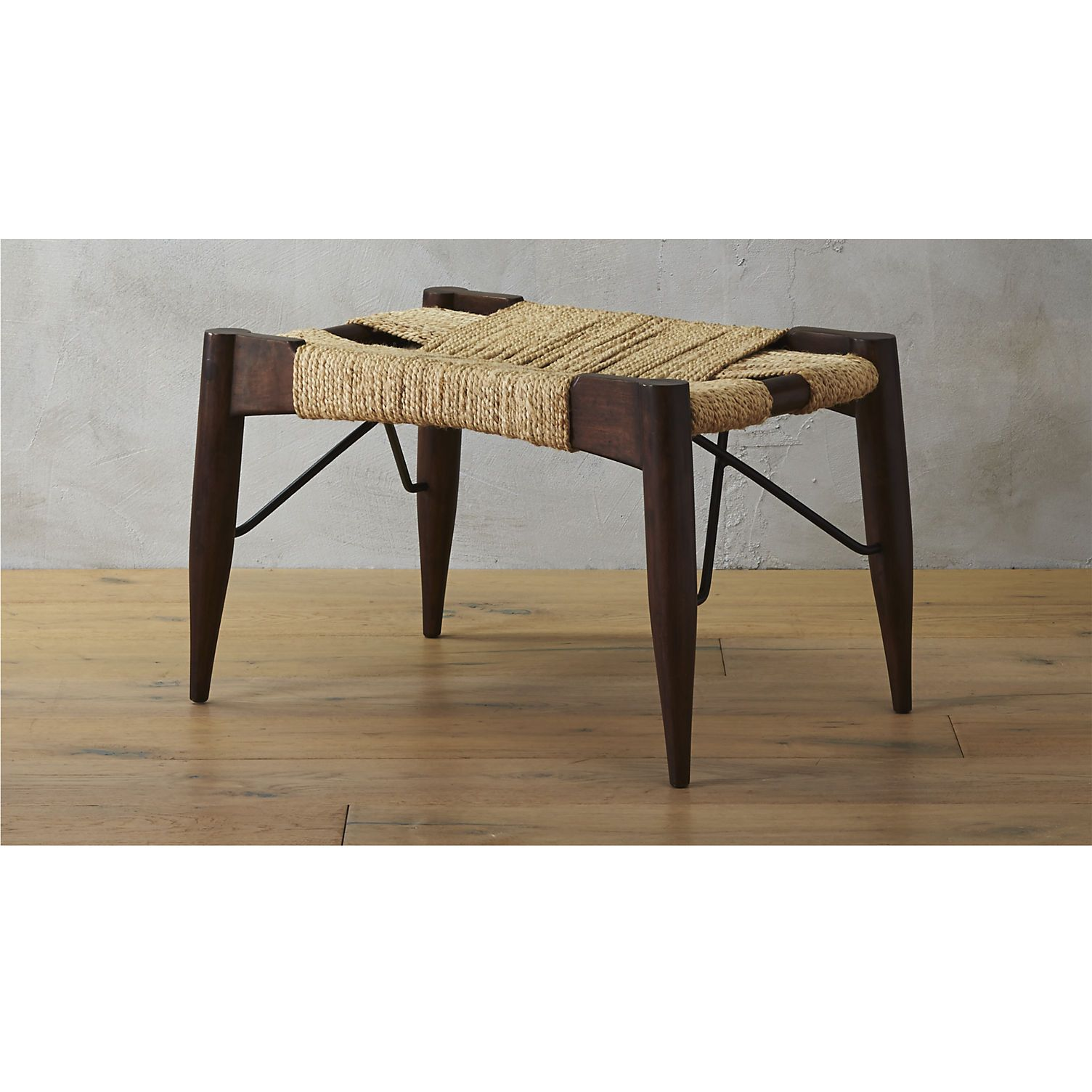 Wrap Bench wrap small bench | small bench, open frame and acacia wood