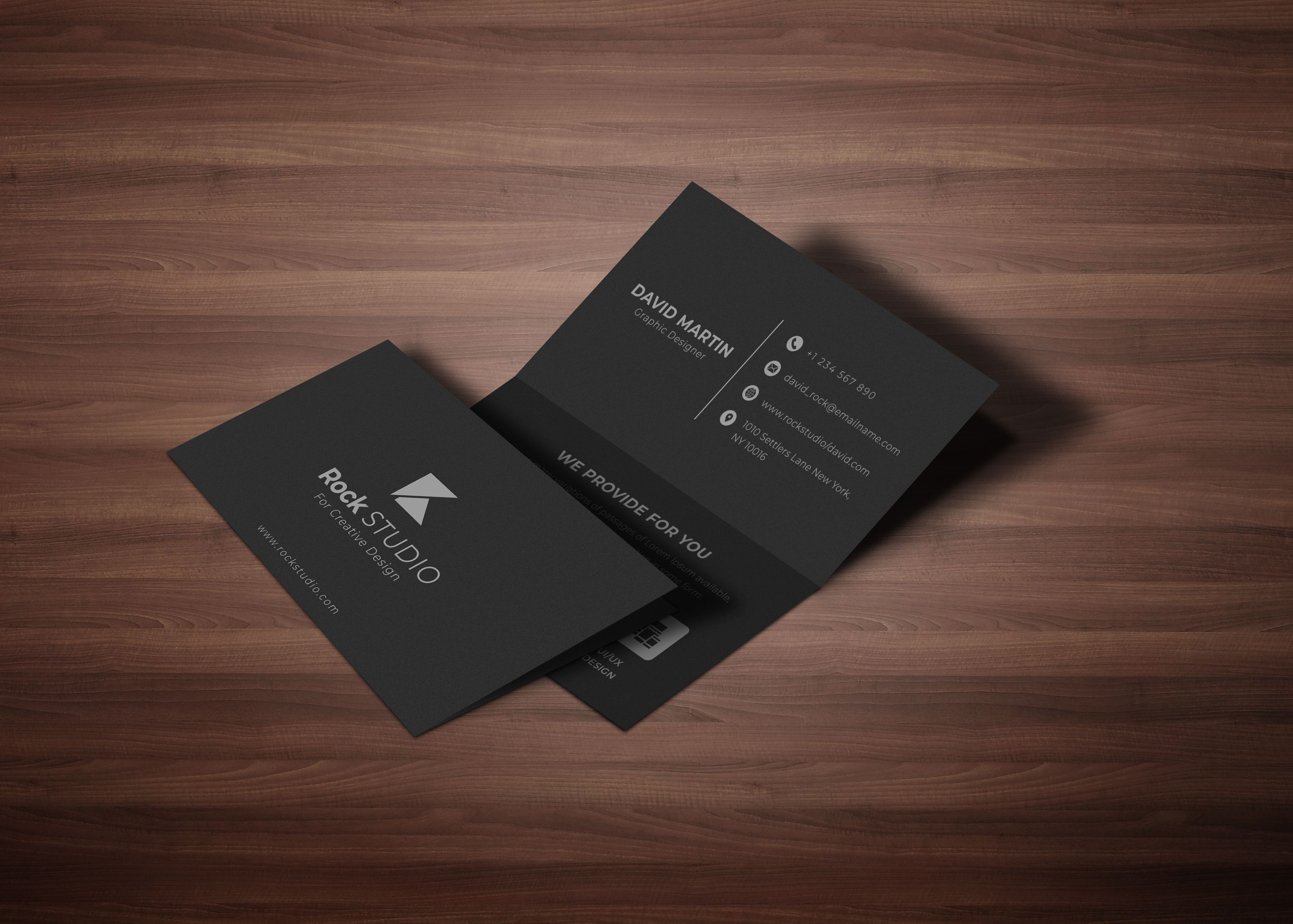 Luxury Folded Business Card Folded Business Cards Luxury Business Cards Creative Branding