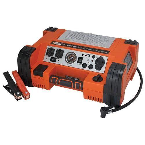 Black Decker Professional Power Station Jumper Compressor Inverter Light Ac Dc And Usb Power Pprh5bd Atomi