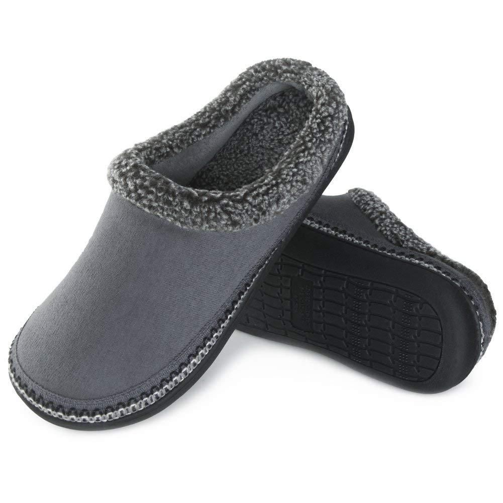 94975dcfd7ac03 Men s Comfort Memory Foam Slippers Non-skid House Shoes Men s Slippers
