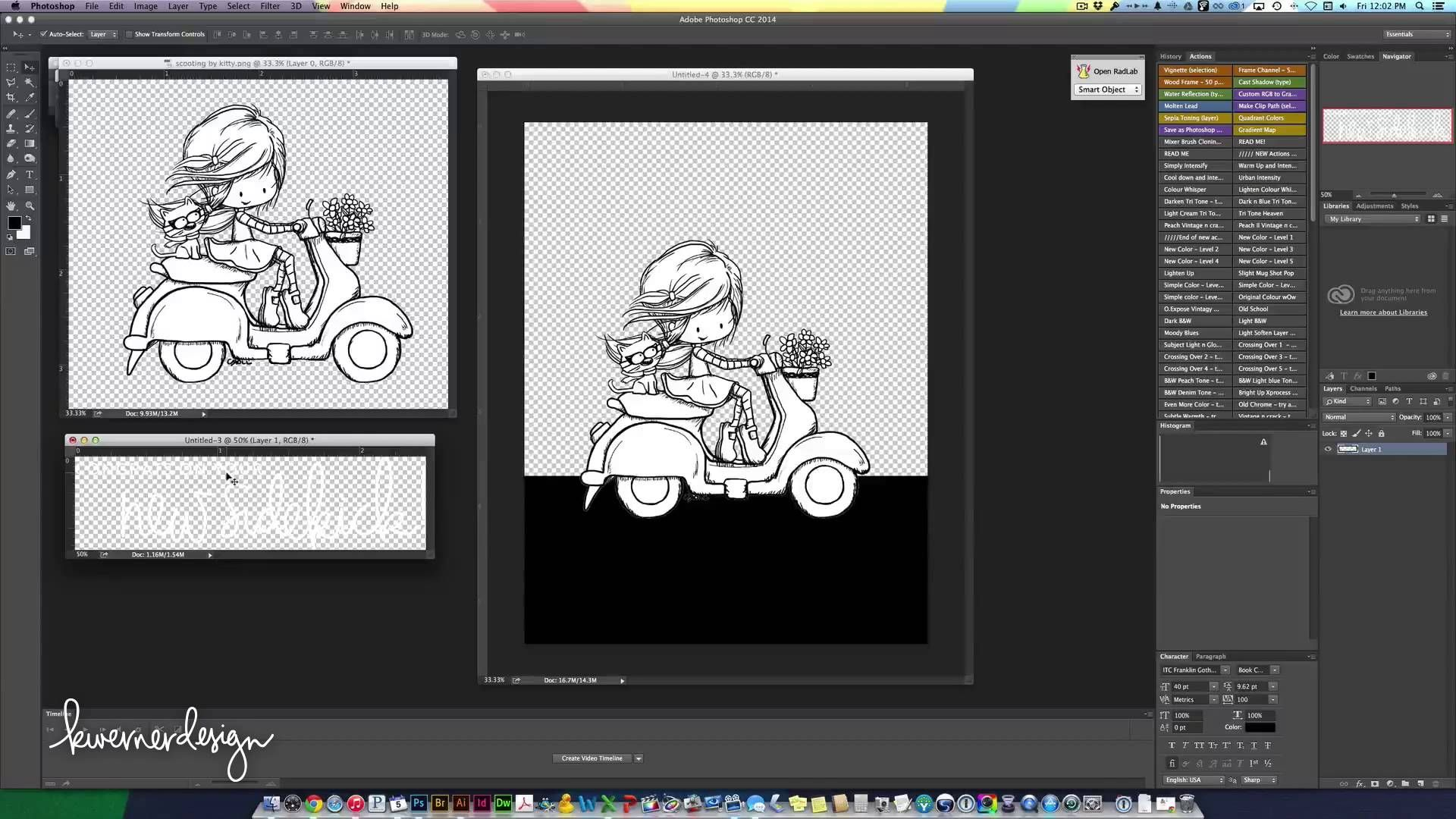 Setting up card in Photoshop - Congrats on Your New Sidekick