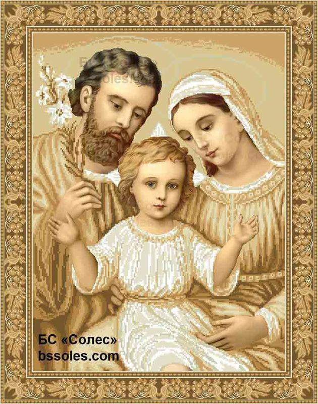 Святе Сімейство (в золоті) ССВ-Кути | Святые, Кута и Вышивание