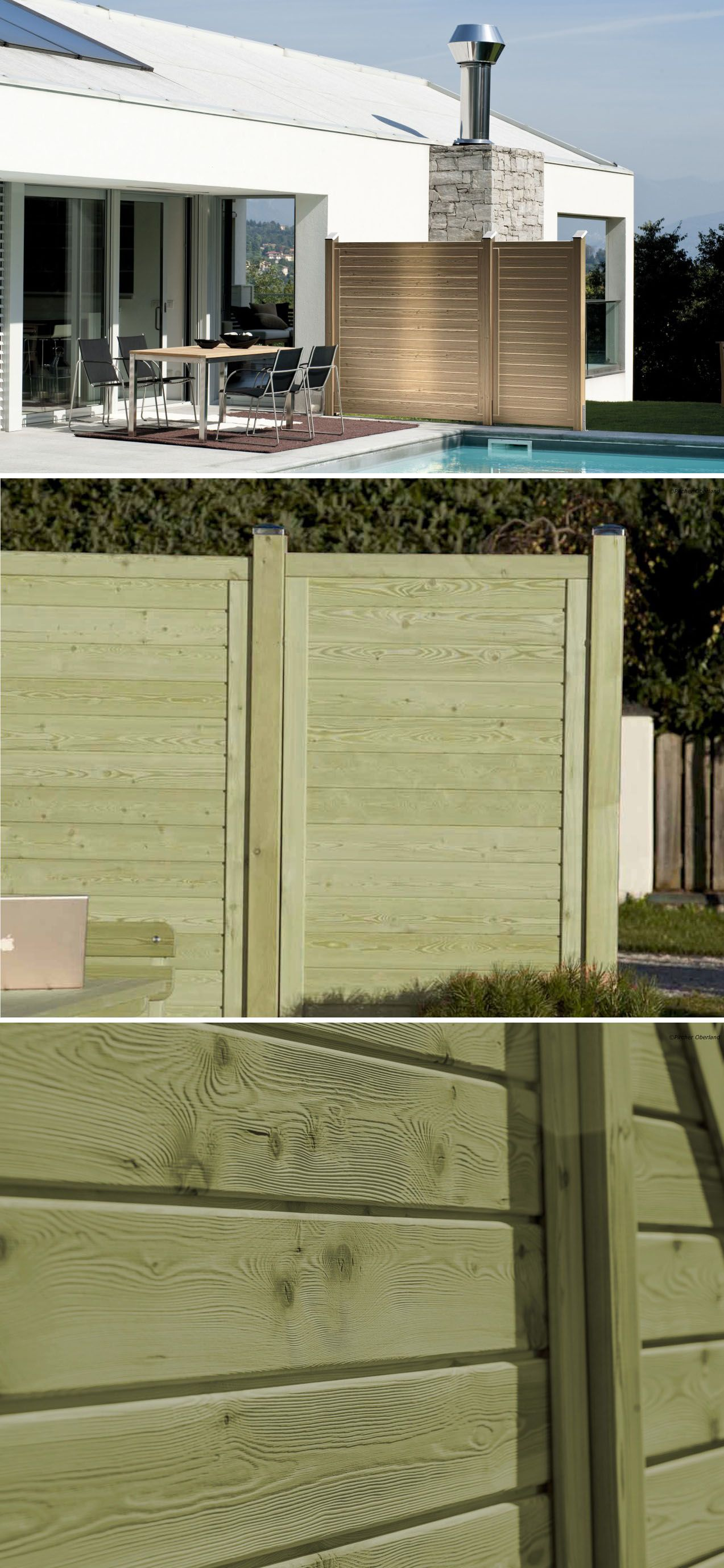 Porte Da Interno Colorate frangivento garbino di pircher, in legno di larice, abete o