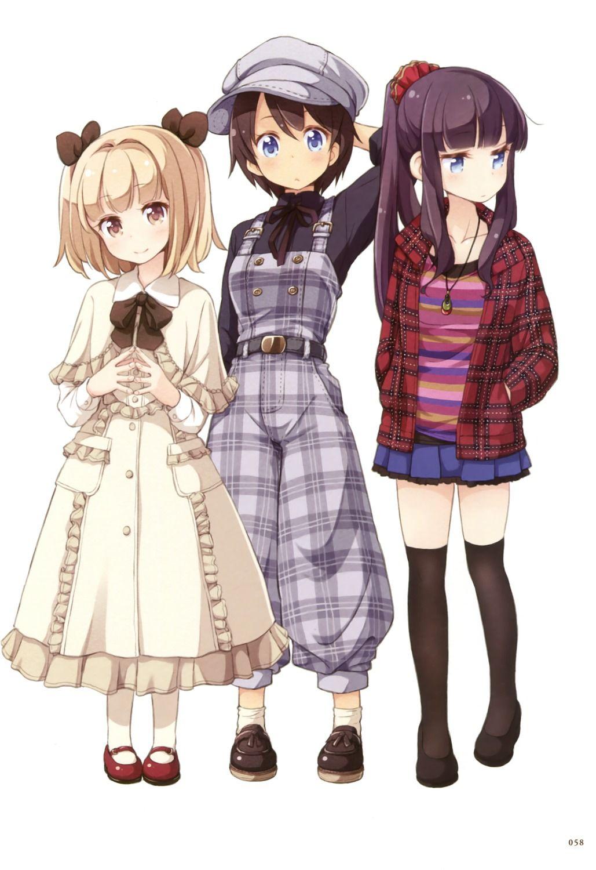 Dress Iijima Yun New Game Shinoda Hajime Tagme Takimoto Hifumi Thighhighs Tokunou Shoutarou アニメの親友 かわいいアニメガール アニメ