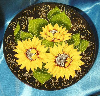 Блюдо Соняшники