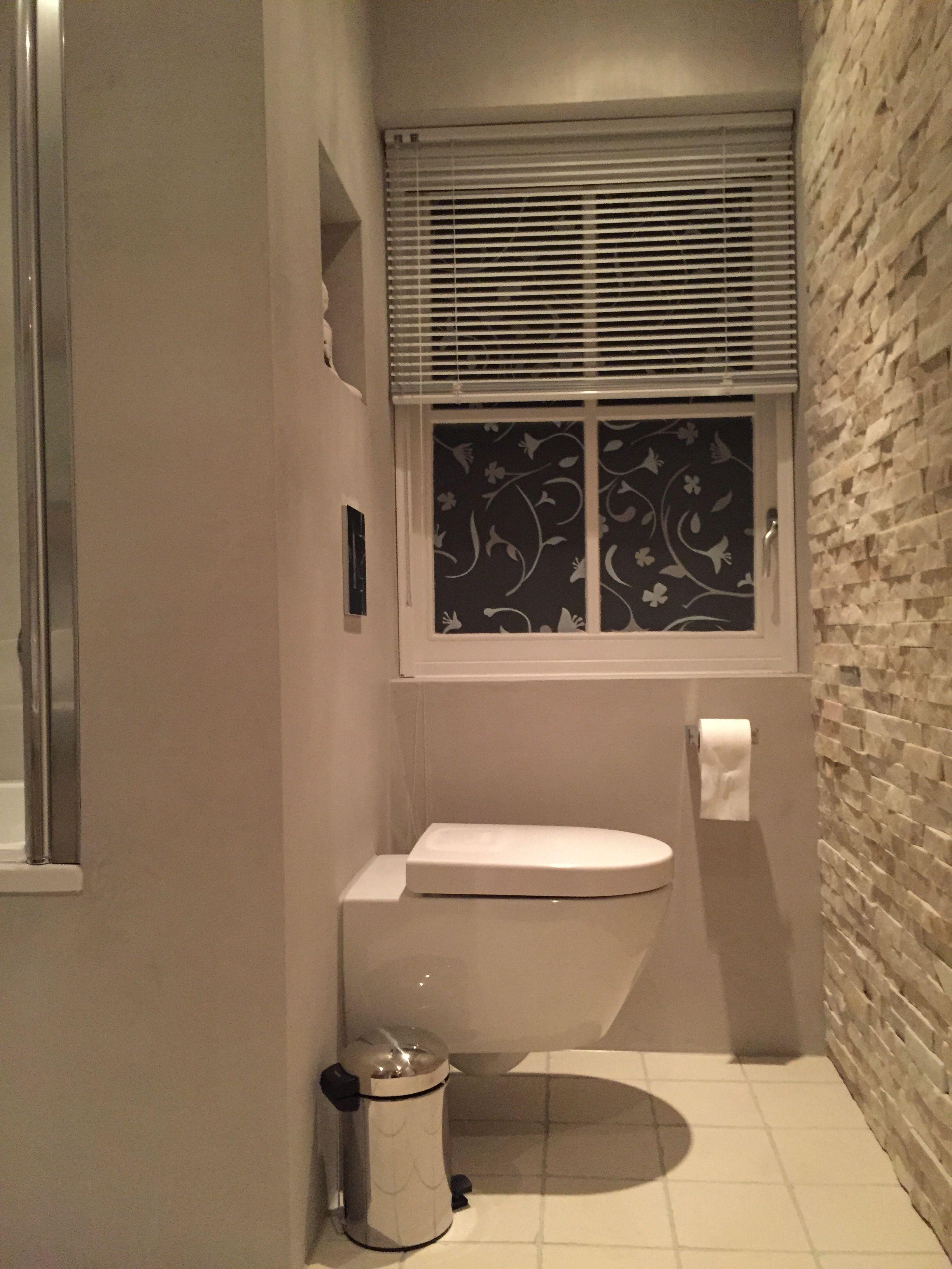 Steenstrips badkamer toilet met wand beton ciré [JB] | Wc | Pinterest