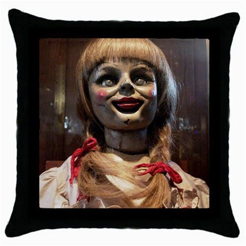 """Annabelle The Doll Movie One Side Throw Pillow Case Black 18""""X18"""" Free Shipping"""
