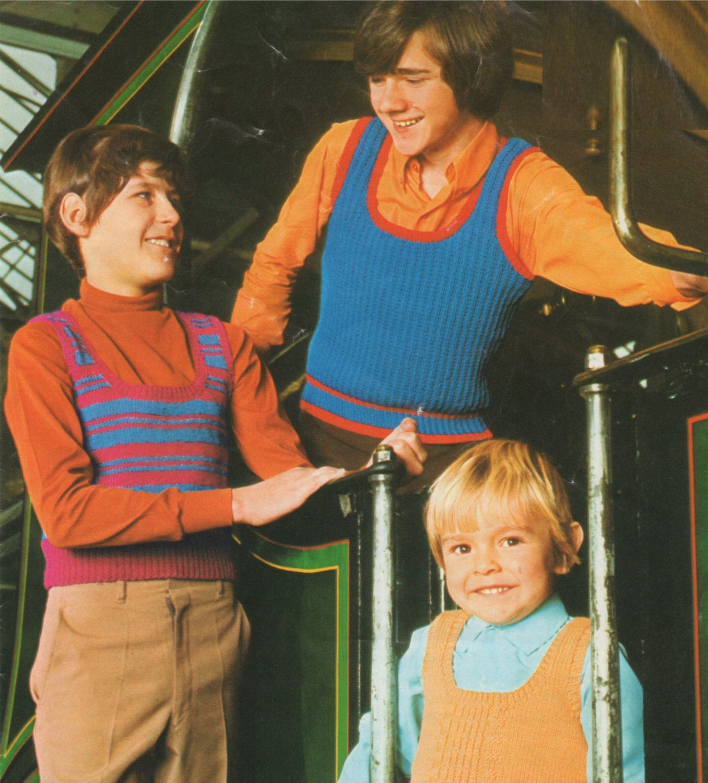 62ba932159b Tank Top Knitting Pattern PDF Teenagers Childrens 26