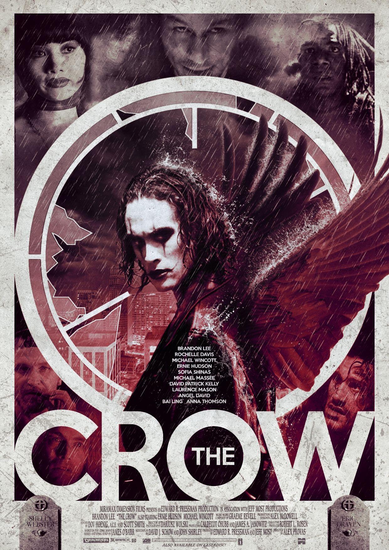 The Crow Crow Movie Cinema Posters Film Poster Design