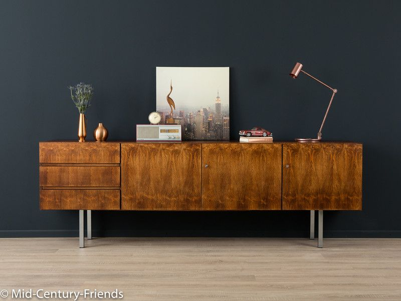 60er sideboard 50er kommode vintage von mid century. Black Bedroom Furniture Sets. Home Design Ideas