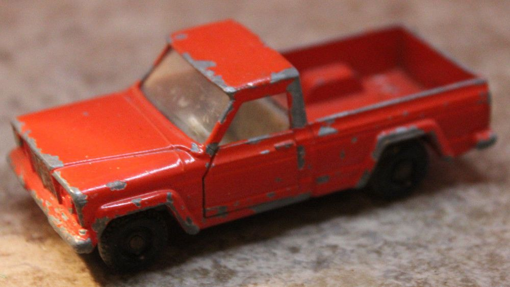 Lesney 71 Jeep Gladiator Matchbox Series Made In England Plastic