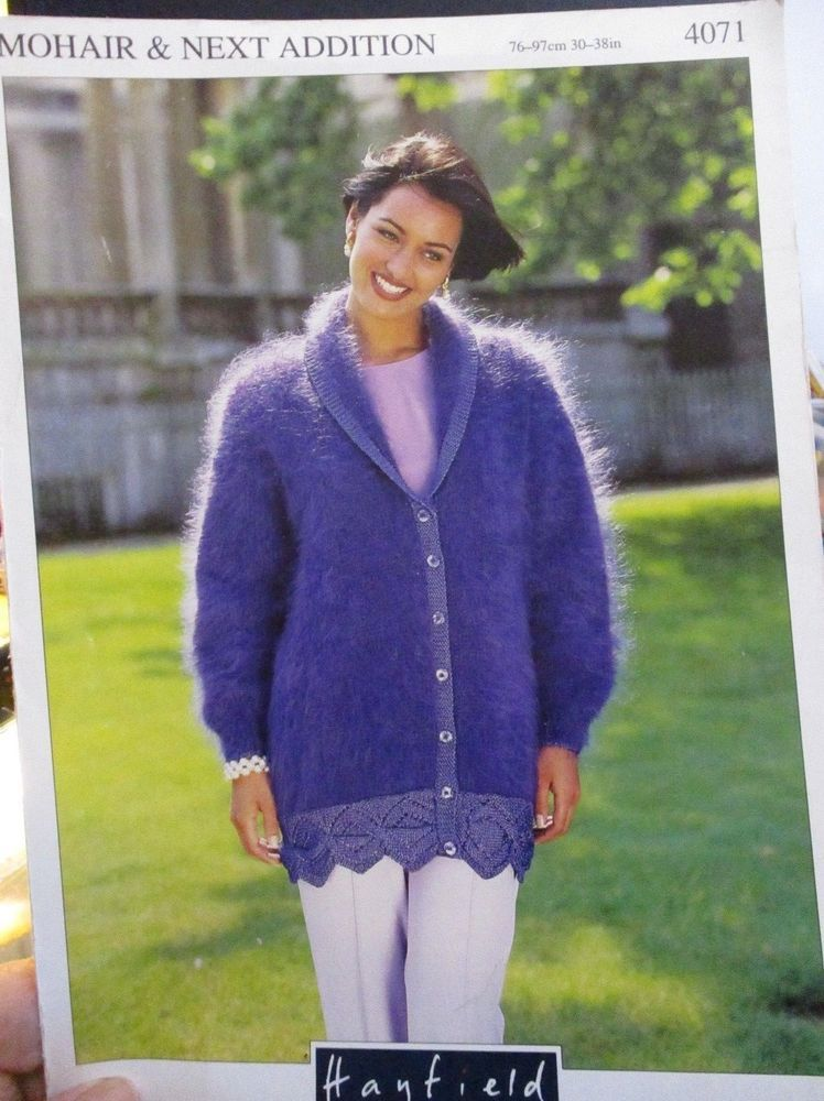 432b90ee0 HAYFIELD MOHAIR KNITTING PATTERN NO.4071 LADIES CARDIGAN SIZES 30