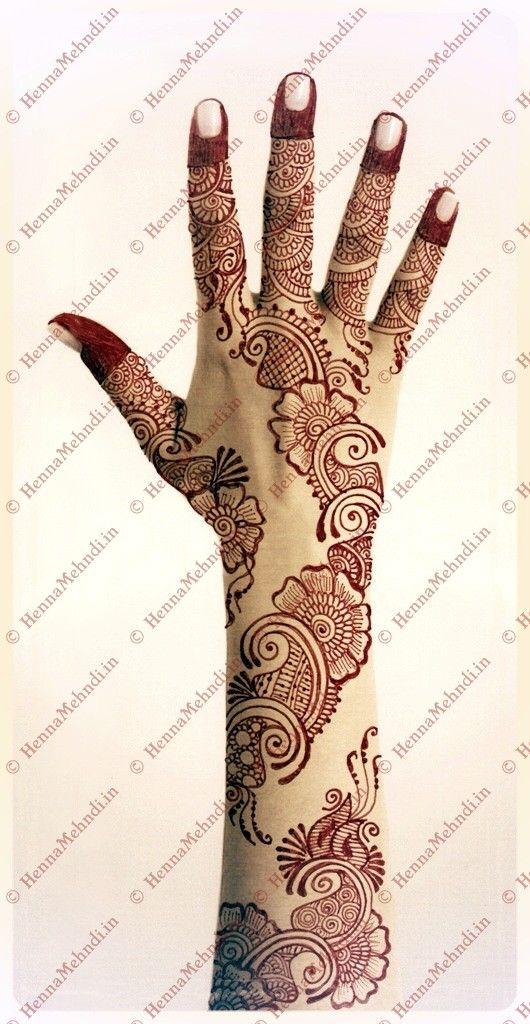 http://wp.me/pAfGG-EN Arabic Henna Design drawn in an elegant ...
