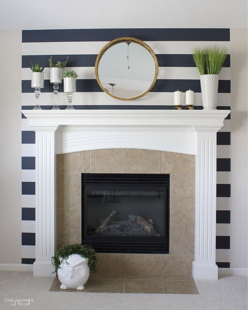 renter friendly striped fireplace feature living rooms room and