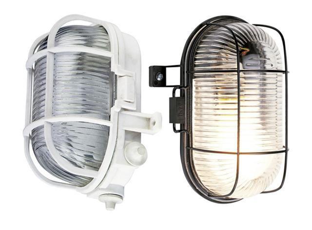 Outdoor Oval Bulkhead Security Light Vandal Resistant Ip44