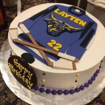 hockey stick birthday cake Google Search TEAM Cakes Pinterest