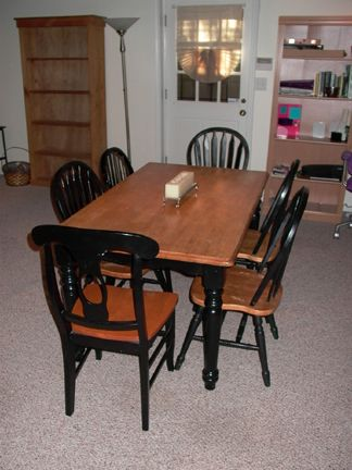17 best images about home kitchen tables on pinterest kitchen dining - Black Kitchen Table