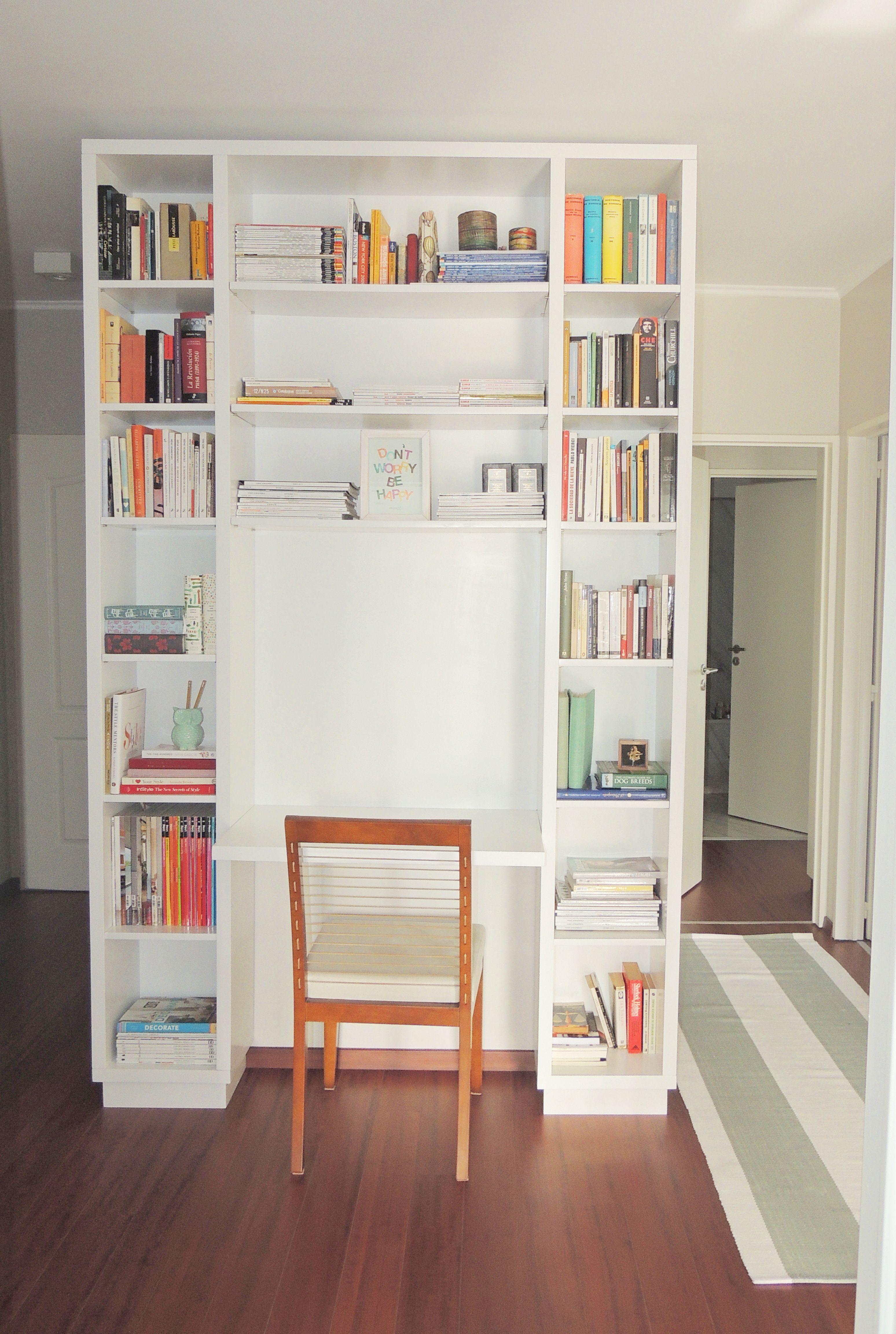 Biblioteca a medida con escritorio incorporado - Estanteria interior armario ...