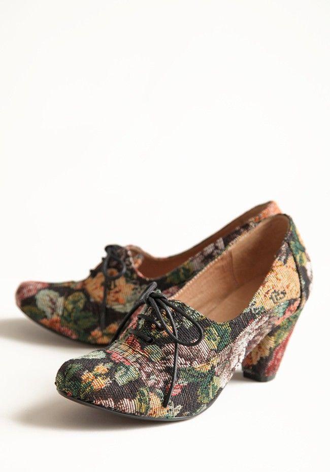 Maytal Tacchi Oxford In Floral Per Crew Chelsea | moderne scarpe vintage