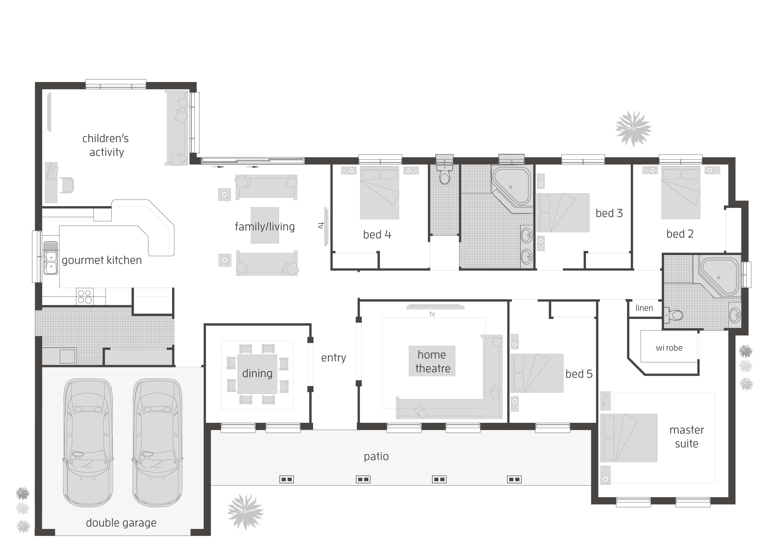 Tenterfield   Floorplans | McDonald Jones Homes
