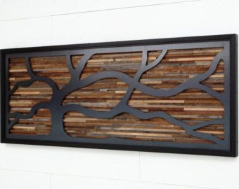 Wood Wall Art Made Of Old Barnwood And Natural By Carpentercraig