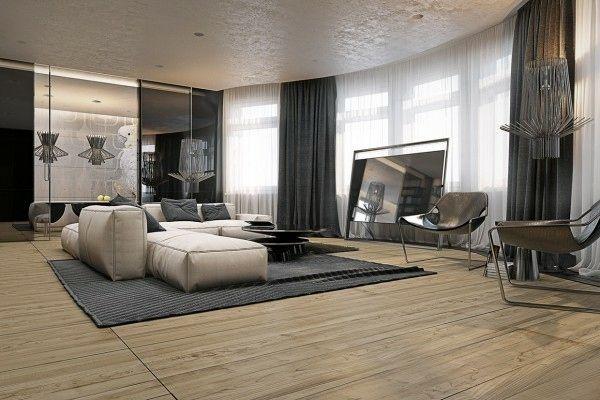 Quatre Appartements Avec Déco Design Masculin | Idee Salon