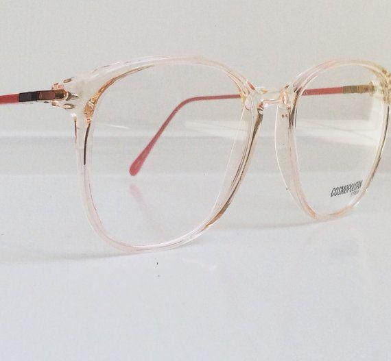 Vintage Pink Eyeglass Frames Oversized by FairestInTheLandoll ...