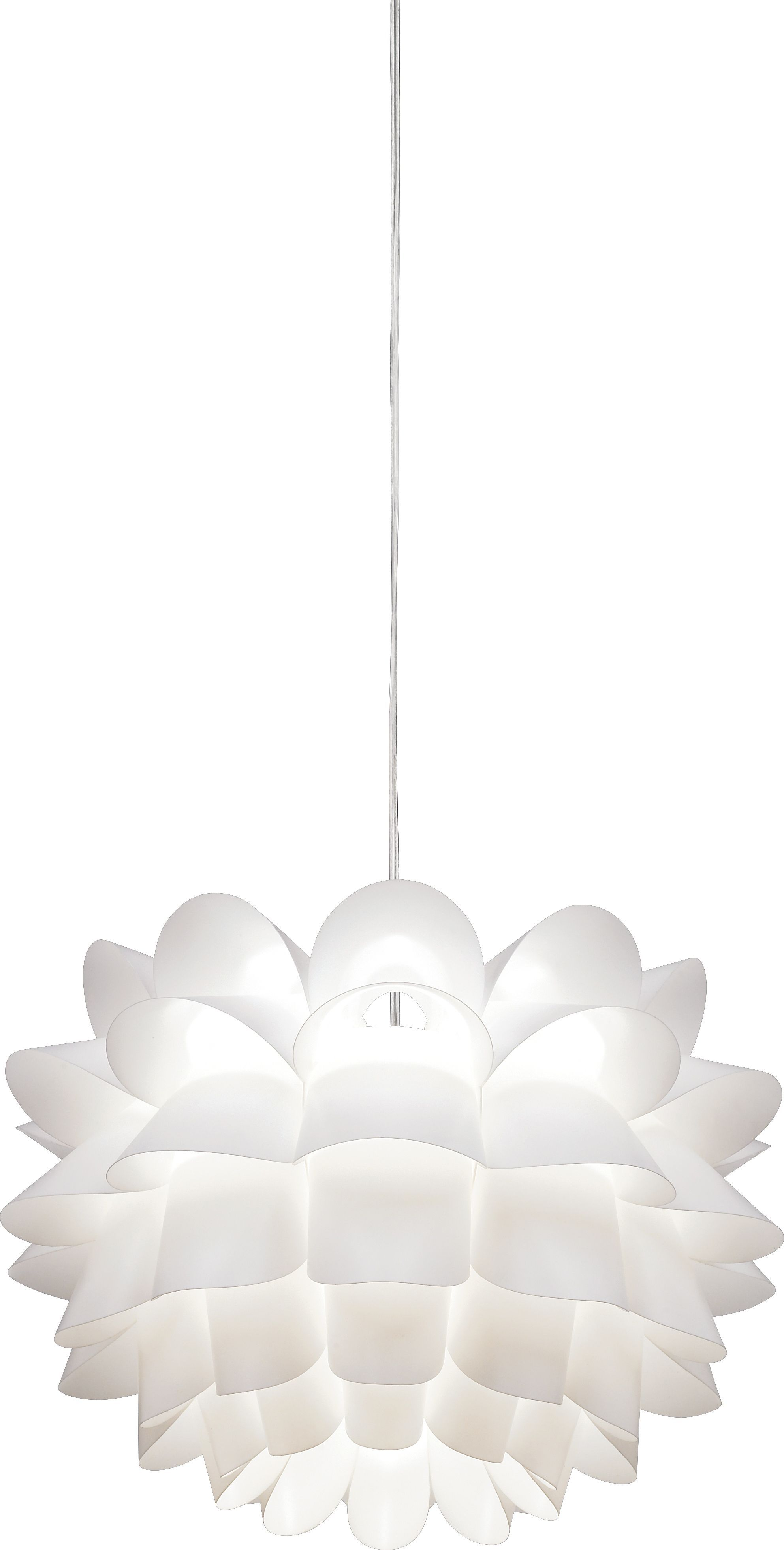 Possini Euro Design White Flower Acrylic Pendant Chandelier Style Lighting