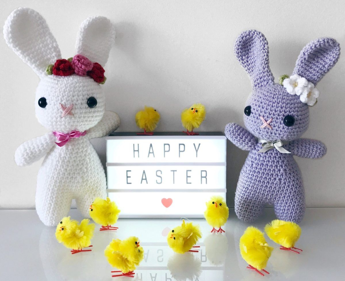 Welcome to my free Easter Bunny pattern! This pattern will show you ...