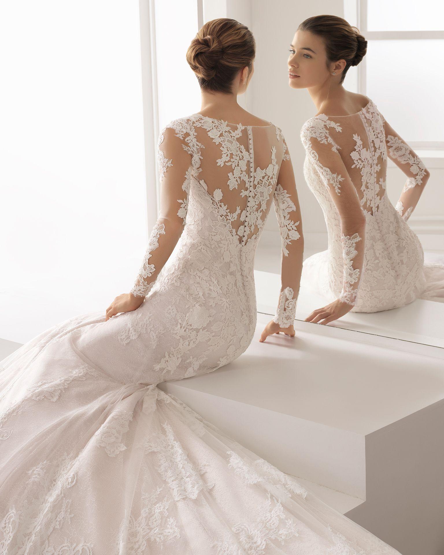 Vestido de novia estilo romantico