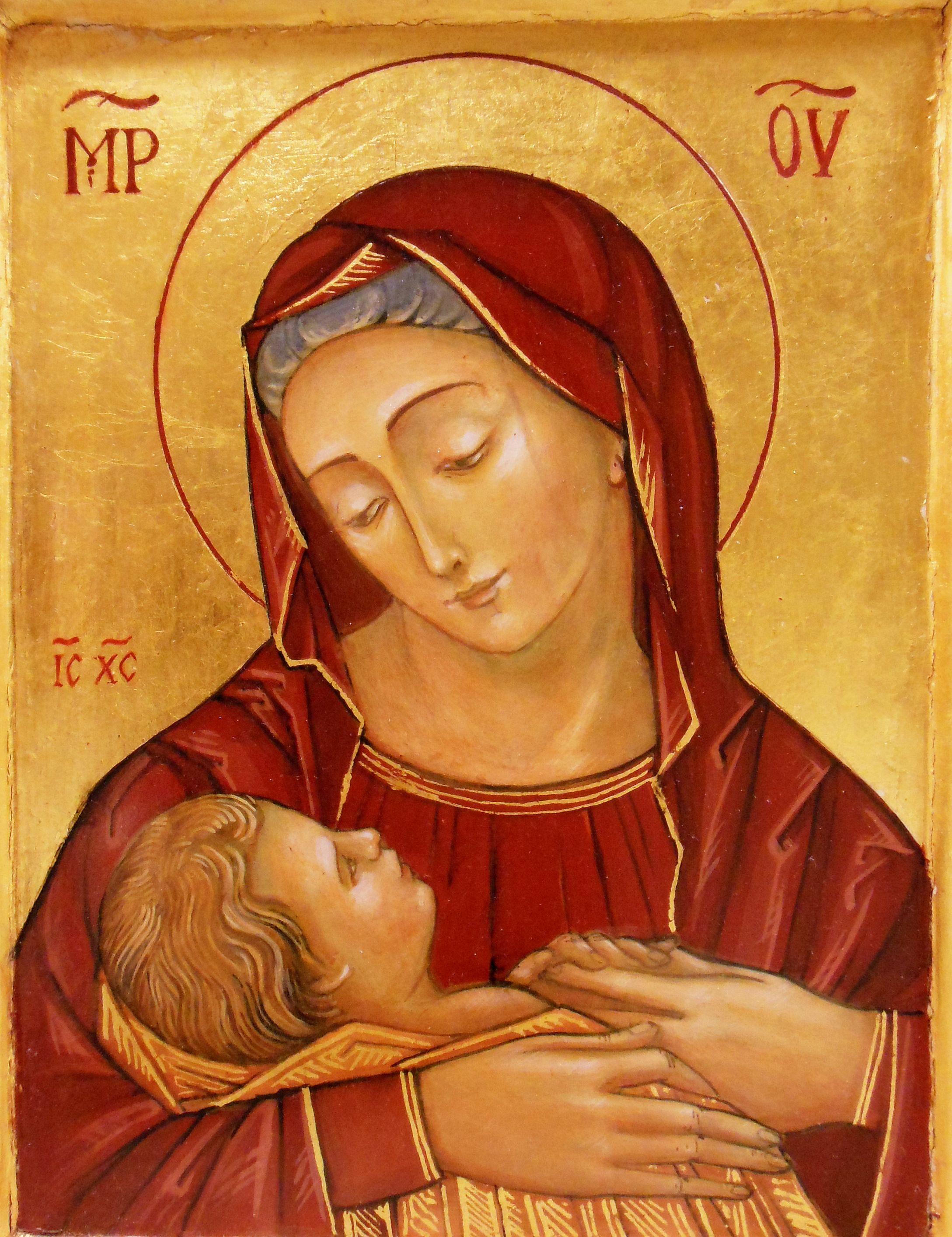 Icon of Mother of Divine Providence by Weronika Ratajska | Madonna ...