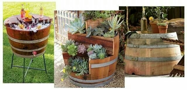 Wine barrel cactus succulent garden ideas pinterest this planter is built using a recycled wine barrel this is from napastyle which creates a variety of goods from recycled barrels workwithnaturefo