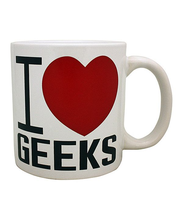 Look at this 'I Heart Geeks' Mug on #zulily today!