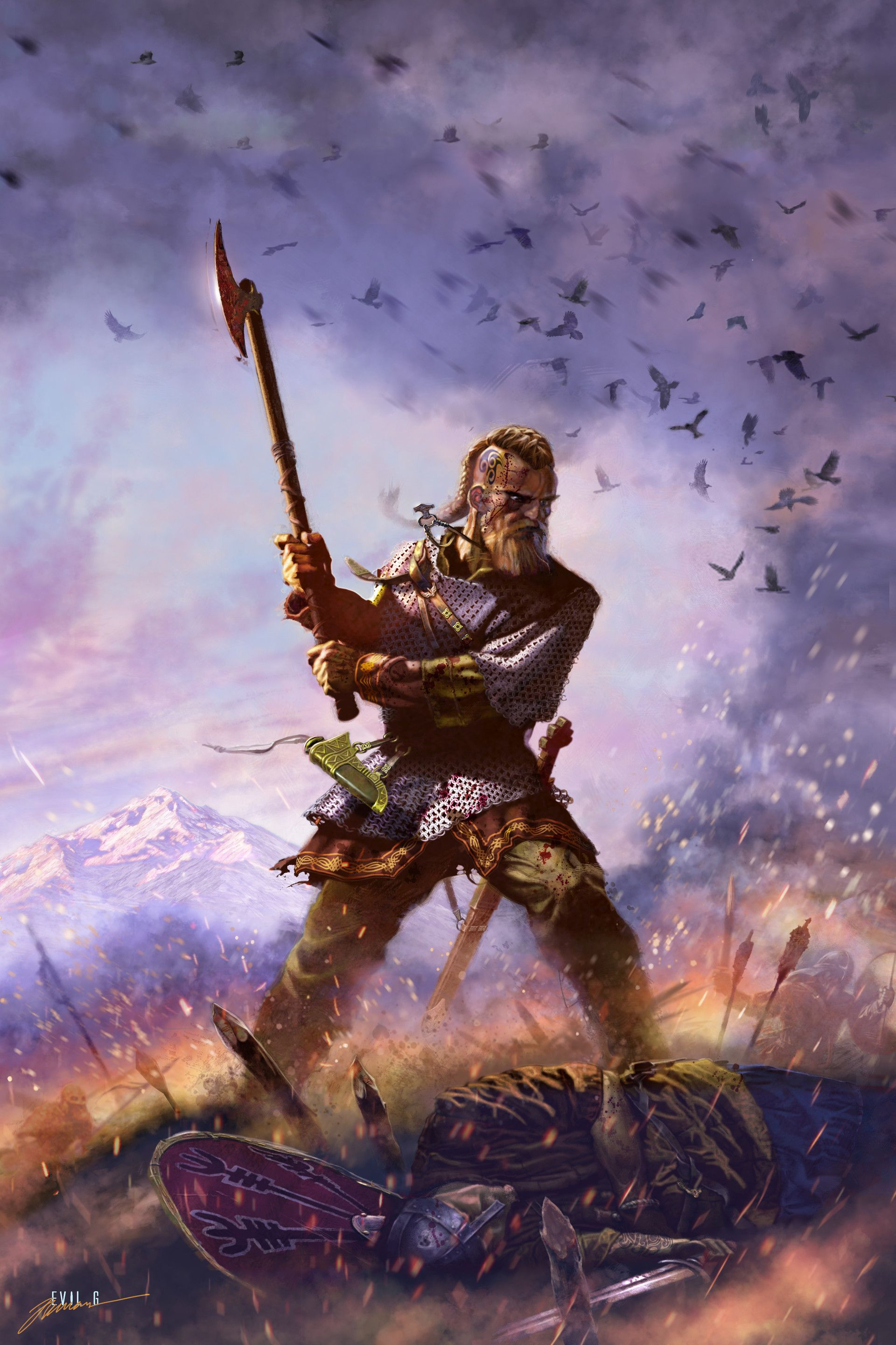 Fantasy Art Norse Viking Warrior