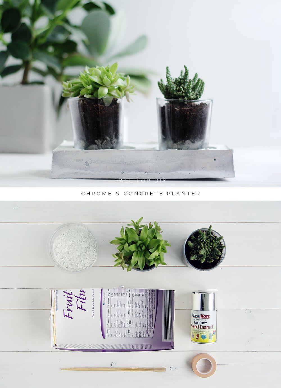 Uncategorized How To Make A Concrete Planter diy chrome concrete planter tutorials and planter