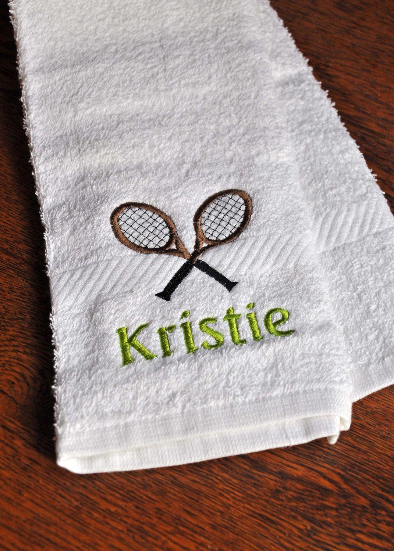 Tennis Sweat Towel. $8.00, via Etsy.